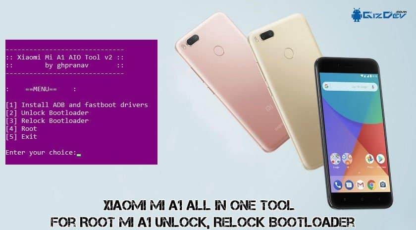 Xiaomi Mi A1 All In One Tool V2 for Root Mi A1 Unlock