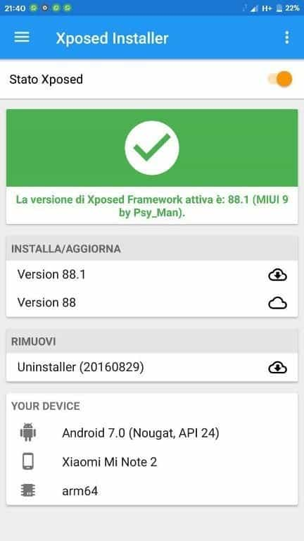 Xpose Framework MIUI 9 - Install Working Xposed v88.1 Xposed Framework On MIUI 9 [SDK24/25]