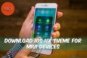 IOS 11 Theme For MIUI
