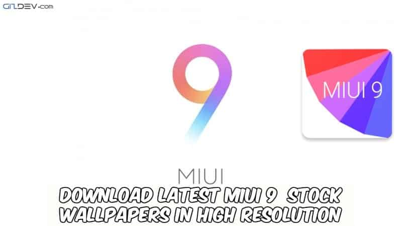 Latest MIUI 9 Stock Wallpapers