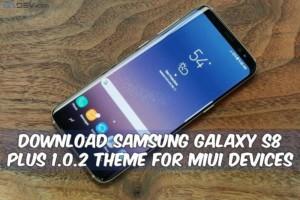 Galaxy S8 Plus Theme For MIUI