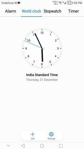 EMUI 5.0 Apps-Hw Clock