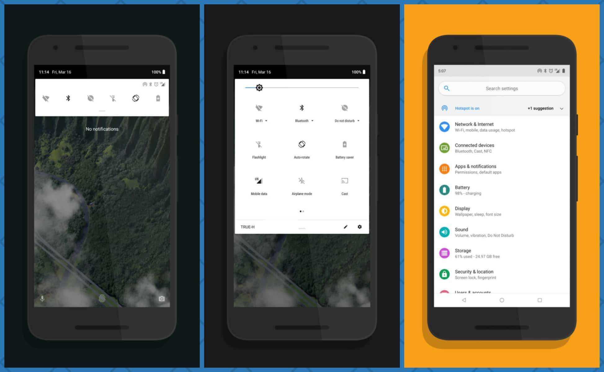 Android P features on OREO devices using Android P ify