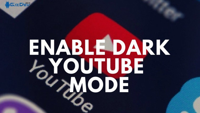 Enable Dark Youtube MODE