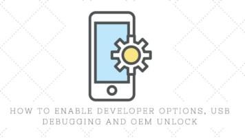 Enable developer options