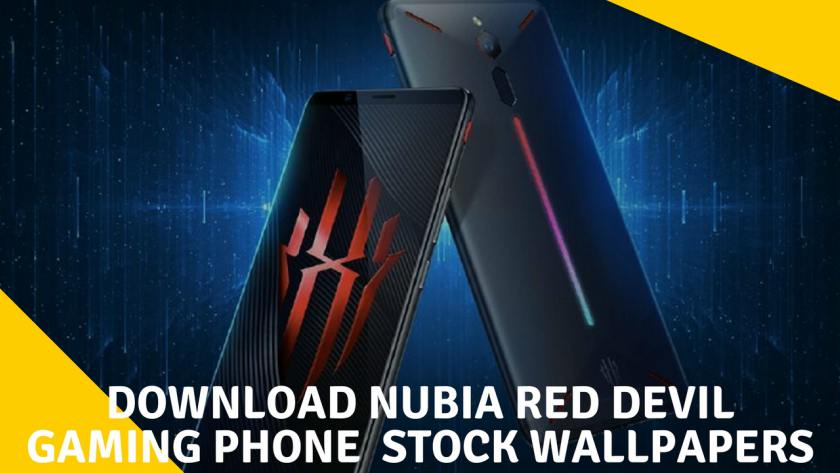 Download Nubia Red Devil Gaming Phone Stock Wallpapers