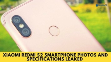 Xiaomi Redmi S2 Smartphone Photos and Specifications Leaked