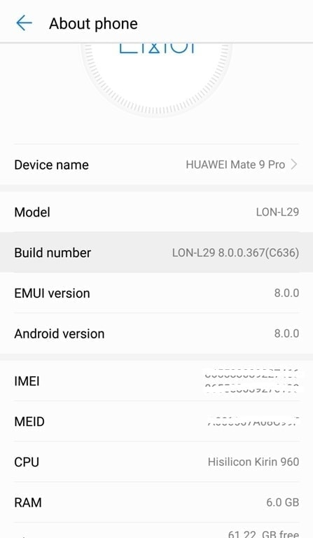 Developer Options On Huawei 1
