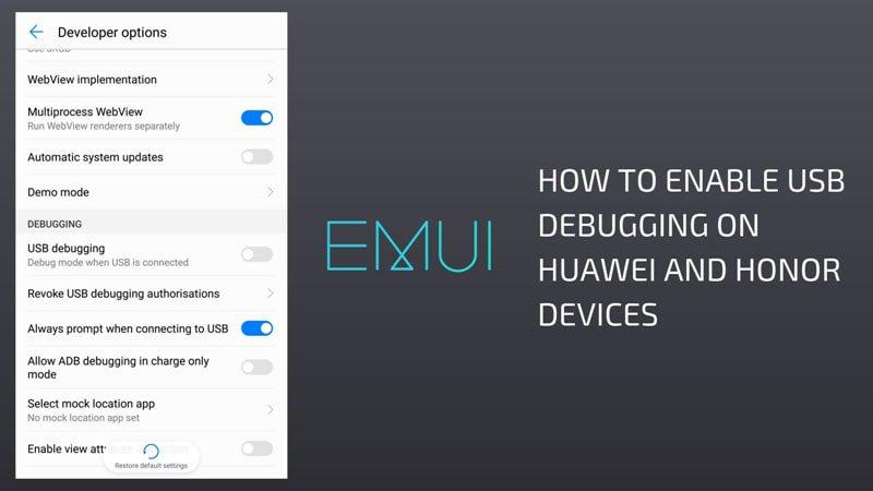 Enable Usb Debugging on Huawei