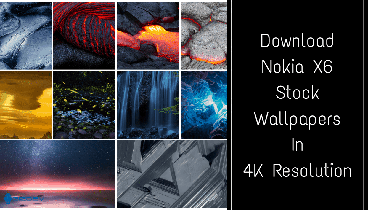 Nokia X6 Stock Wallpapers