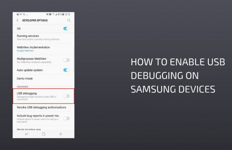 Enable Usb Debugging on Samsung