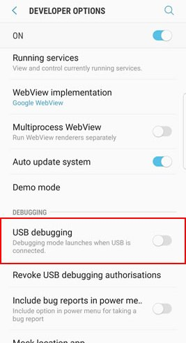 How to Enable Usb Debugging on Samsung Android Devices