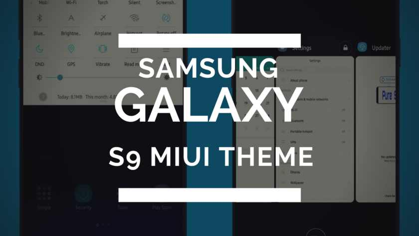 Download Samsung Galaxy S9 Plus MIUI Theme (V9 Theme)