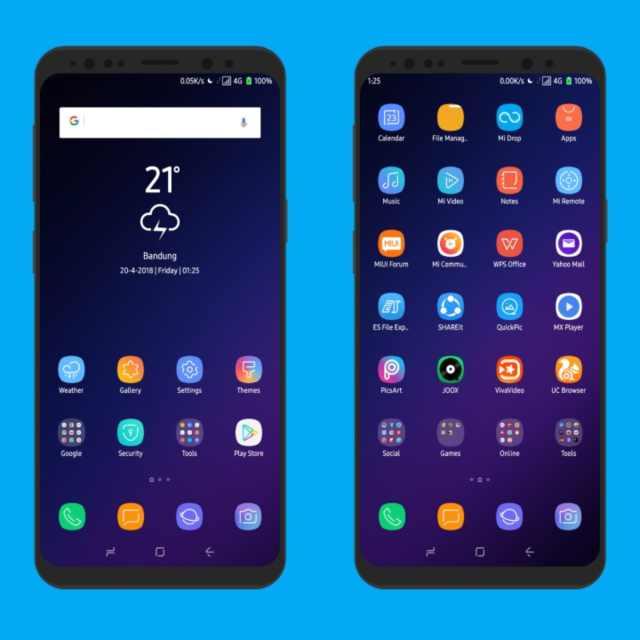 Galaxy S9 Plus MIUI Theme Screens 2
