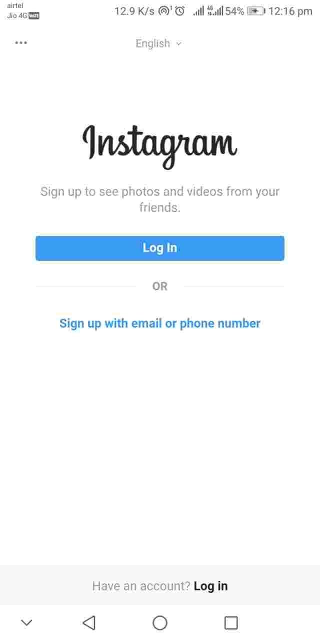Instagram Lite Installation and Login 1