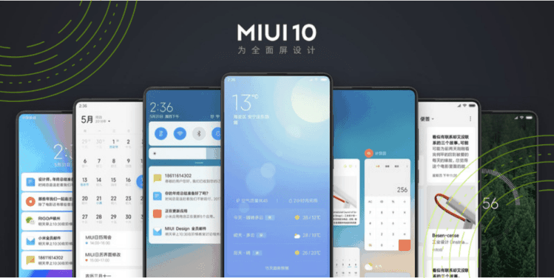 MiUI 10 on Redmi Note 5 Pro, Mi Mix 2/2S, Mi 6