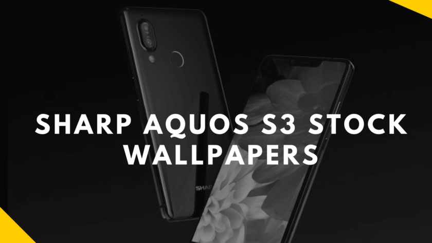 Sharp AQOUS S3 Stock Wallpapers