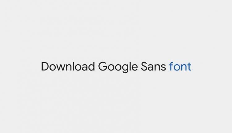Download Google Sans font