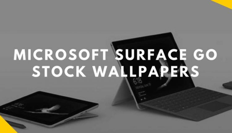 Microsoft Surface GO Stock Wallpapers