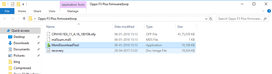 TWRP flash with MsmDownloadTool