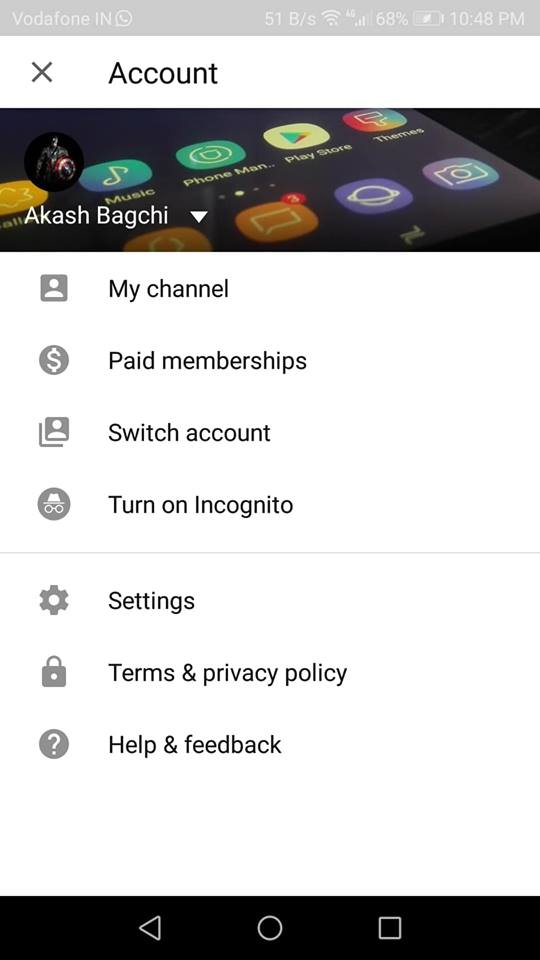 YouTube Incognito Mode 3