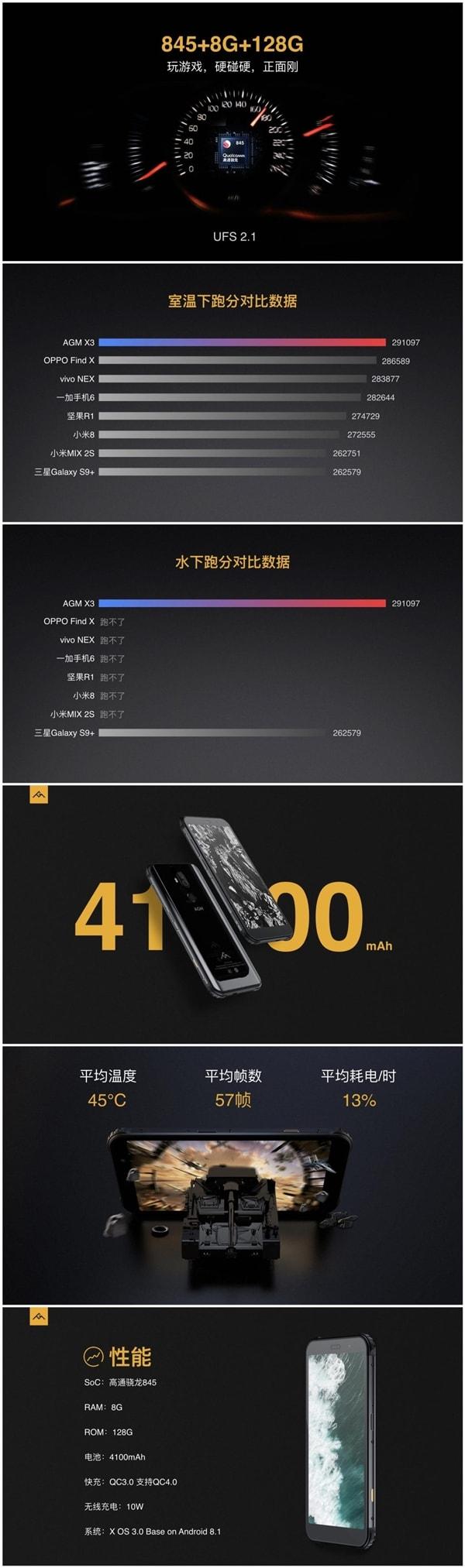 AGM X3 battery