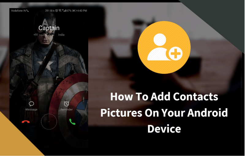 Add Contacts Pictures On Android