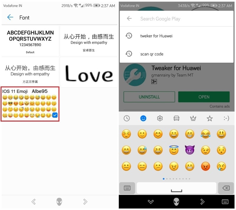 Change Emoji On Huawei/Honor