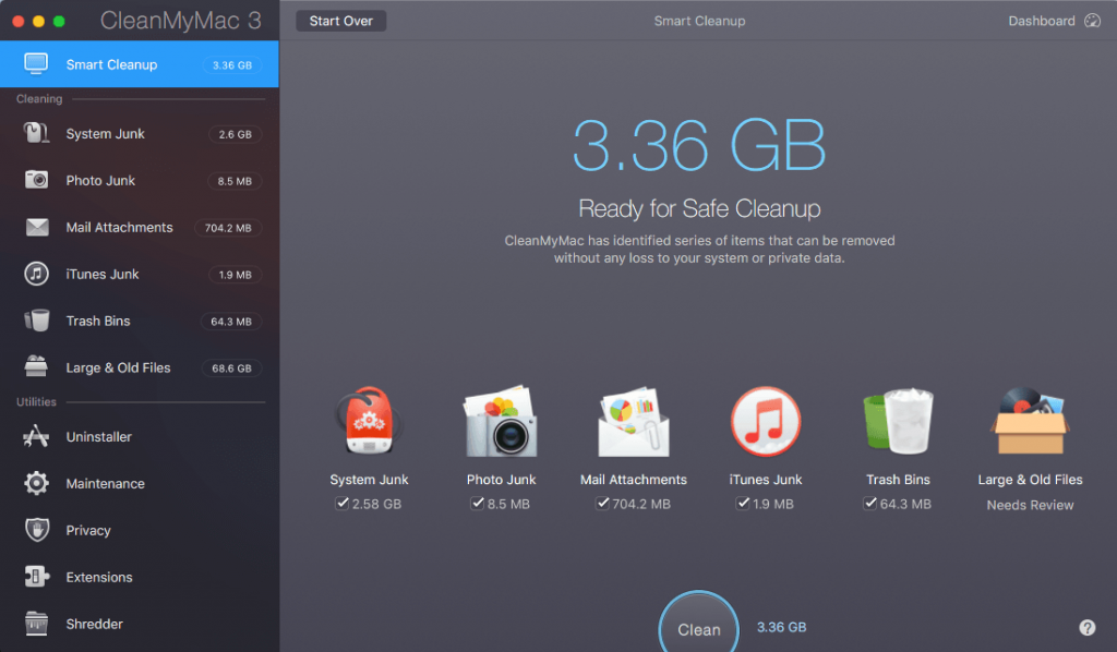Clean My Mac Cleaning tool 1024x598