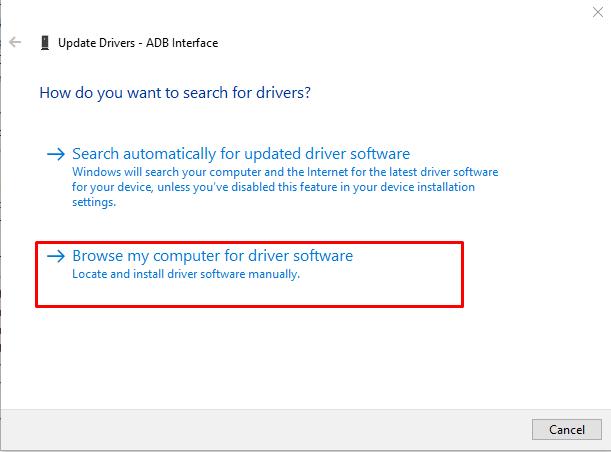 adb driver install 3 1