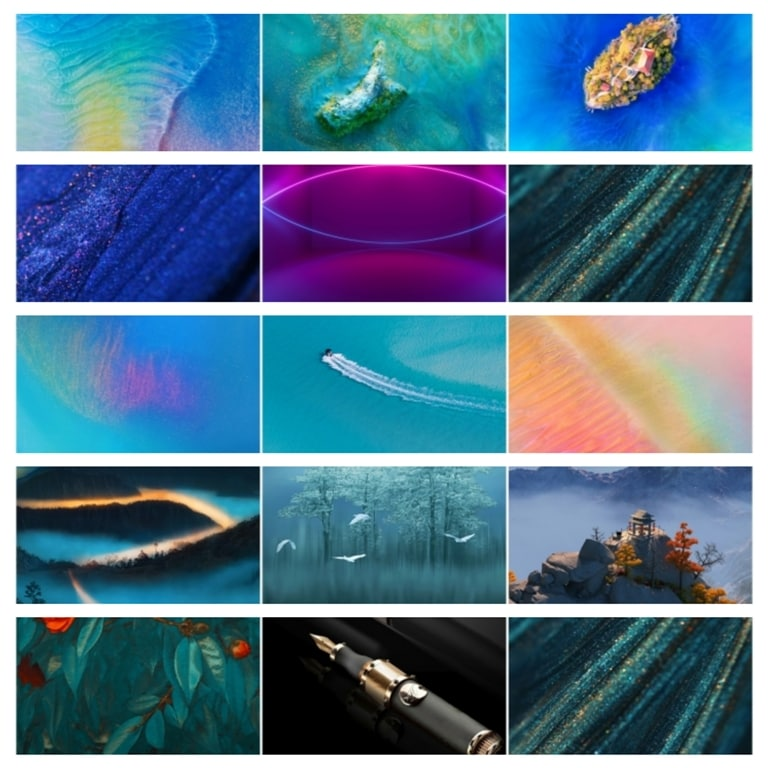 Huawei Mate 20 Pro and Mate 20 X Stock Wallpapers