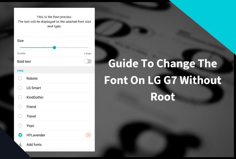 Change The Font On LG G7
