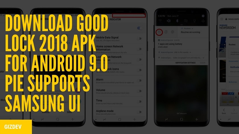 Download Good Lock 2018 APK For Android 9 0 Pie Supports