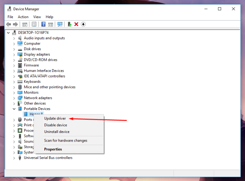 Resolve MTP USB Device Driver On Windows 10 5