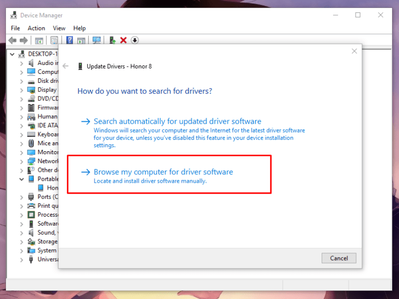 Resolve MTP USB Device Driver On Windows 10 6