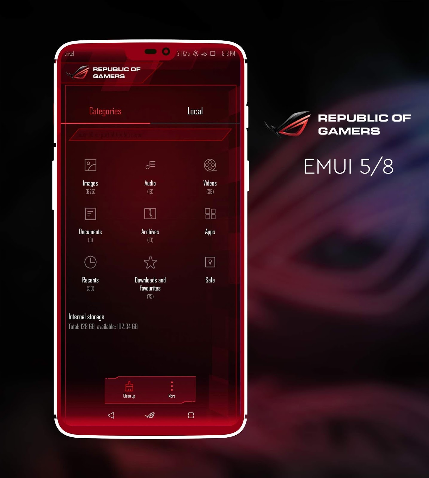 Asus ROG EMUI Theme Screens 1