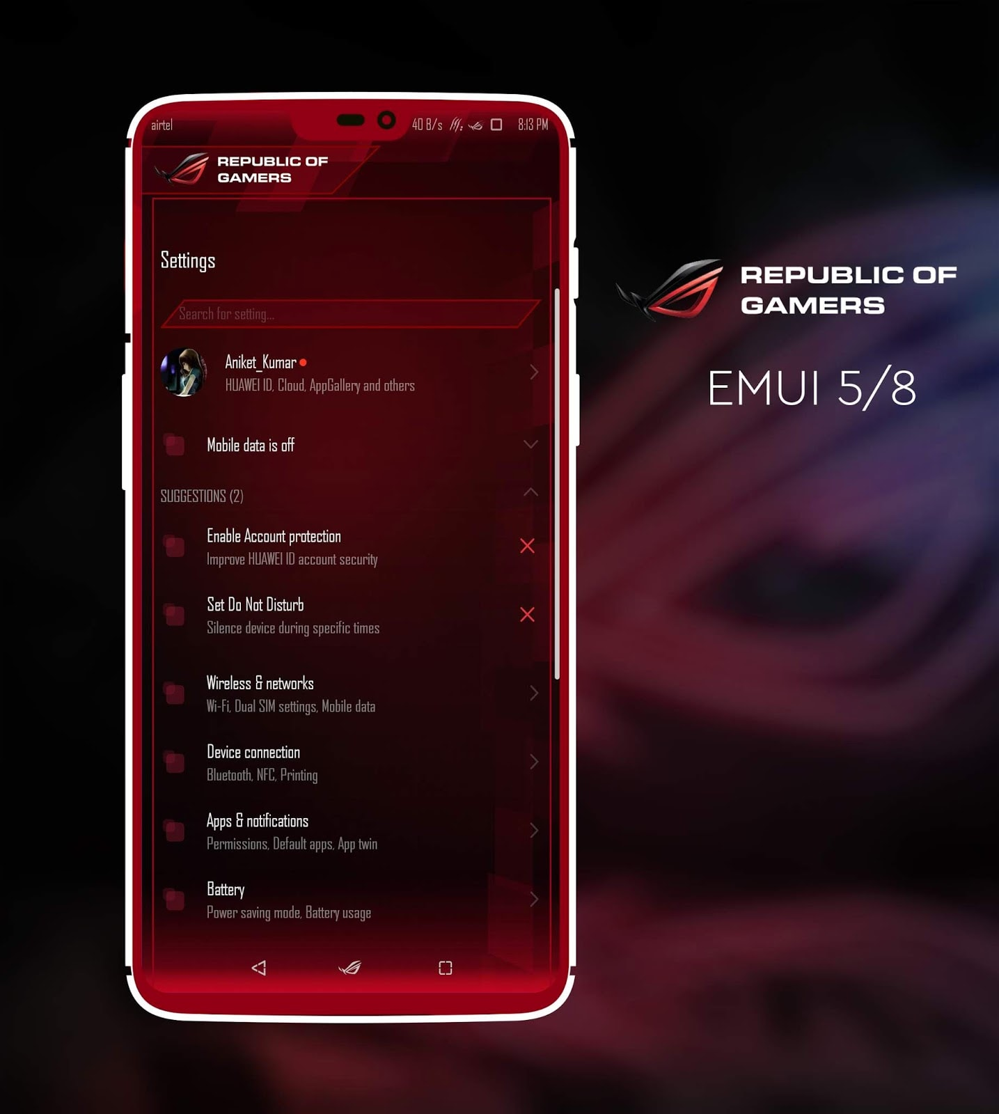 Asus ROG EMUI Theme Screens 3