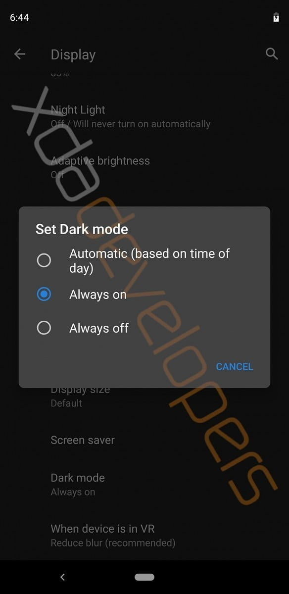 Android Q System Wide Dark Theme 2
