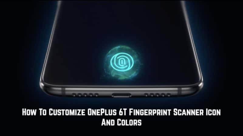 Customize OnePlus 6T Fingerprint Scanner Icon