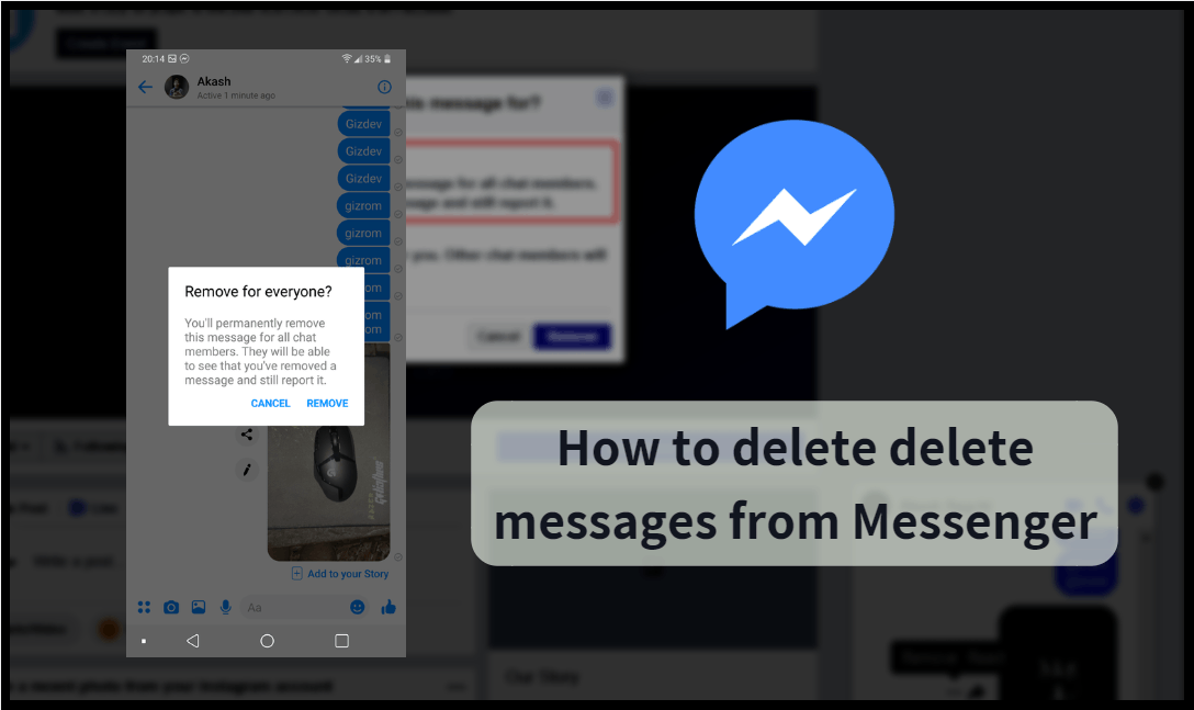 Delete A Sent Message In Facebook Messenger