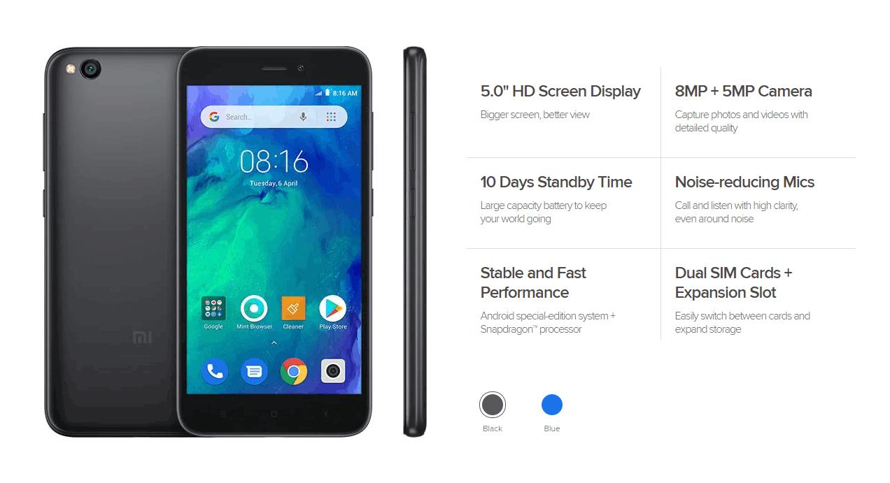 Xiaomi Redmi Go Specification