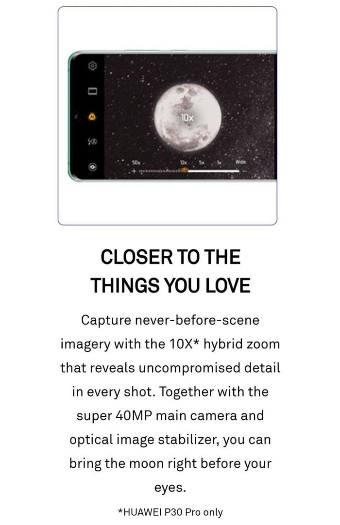Huawei p30 10x zoom