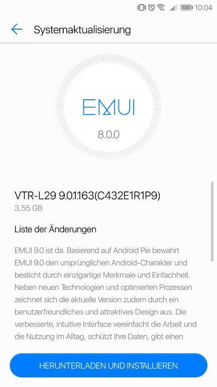 Cập nhật Android P cho Huawei P10
