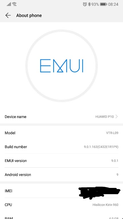 Huawei P10 and Huawei P10 Plus finally received Android P update