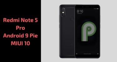 Download Redmi Note 5 Pro Android 9 Pie MIUI 10