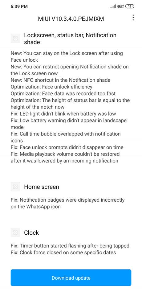 Update Screens 1