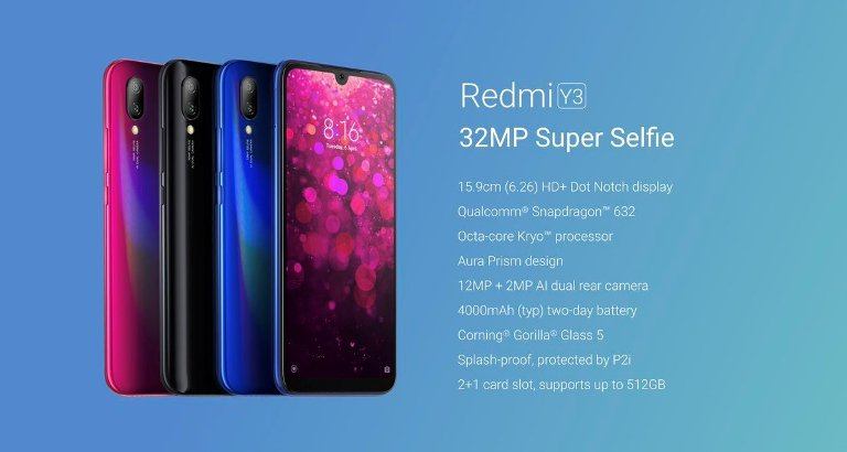 Xiaomi Redmi Y3 Specification