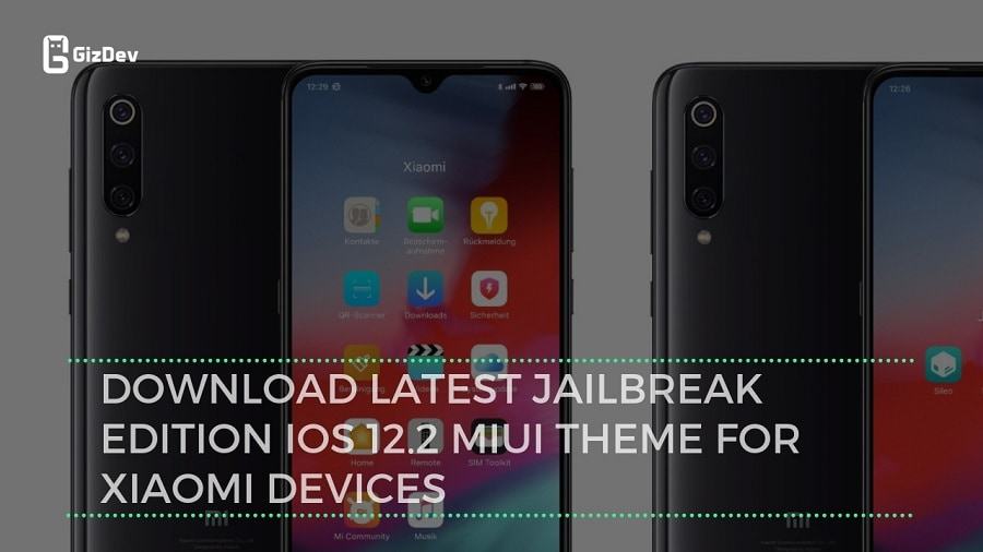 Download Latest JailBreak Edition iOS 12 2 MIUI Theme For