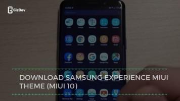Download Samsung Experience MIUI Theme (MIUI 10)