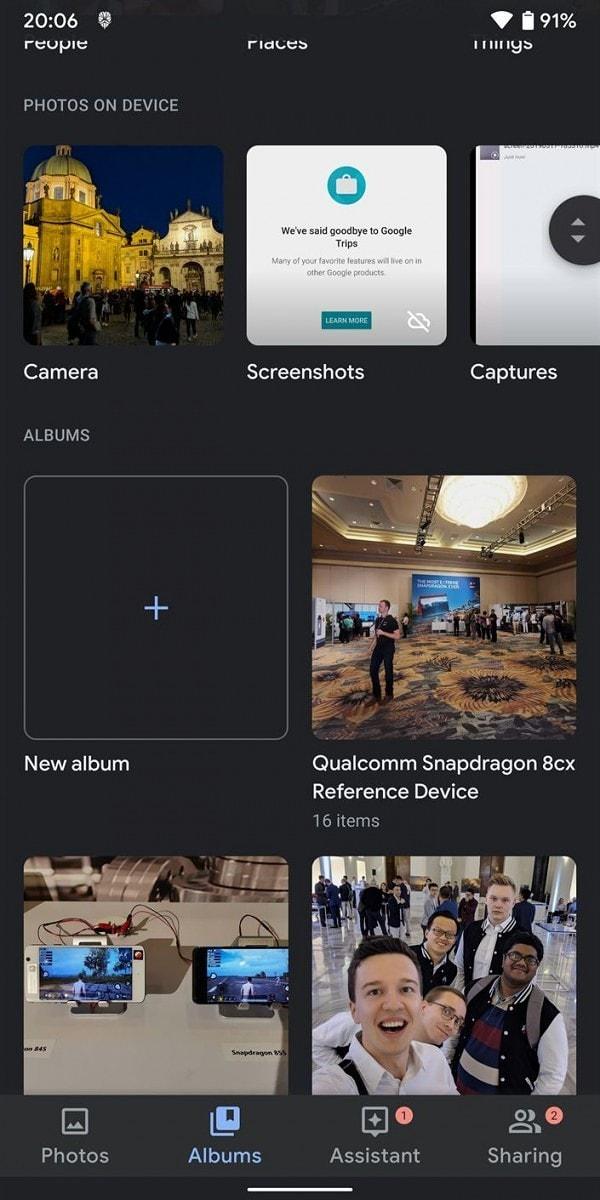 Google Photos Dark Mode Screens 3